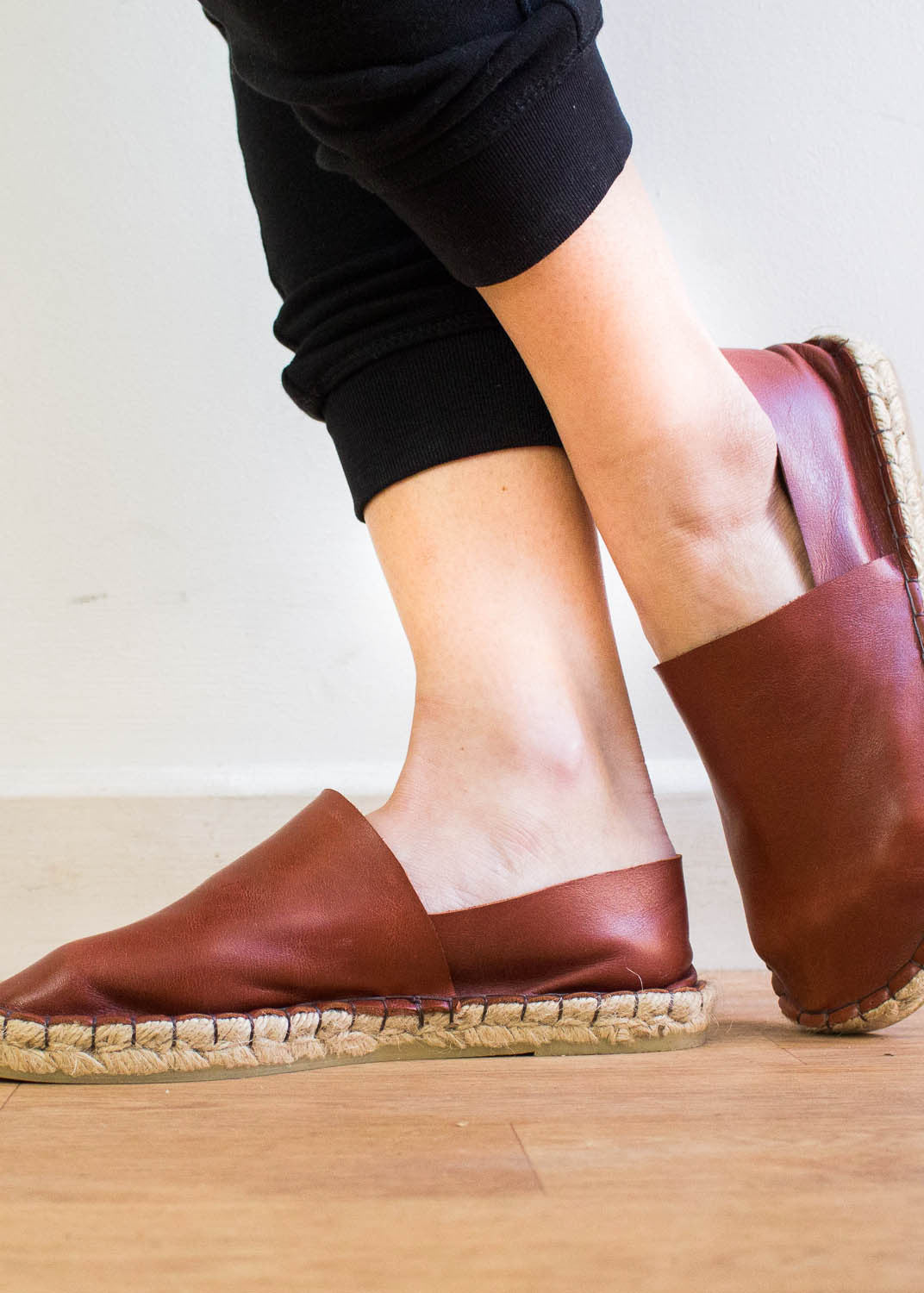 Brown Leather Slip Ons-Shoes-Sancho's Dress