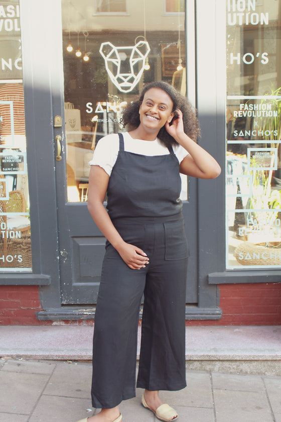 Tya Jumpsuit in Coal (transparent pricing)