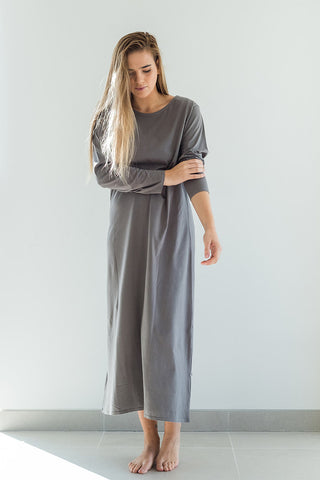 Long Nightie / dusk grey-Nightwear-Sancho's Dress