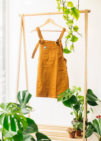 Mini Pini in Mustard-Dungarees-Sancho's Dress