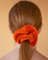 Organic Bamboo Malala Scrunchie in Pumpkin Orange from Hara