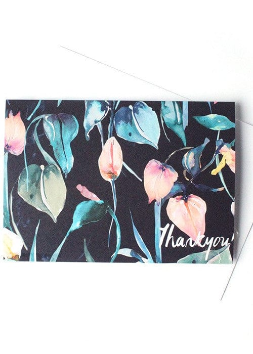 Night Lilies Thank You-Card-Sancho's Dress