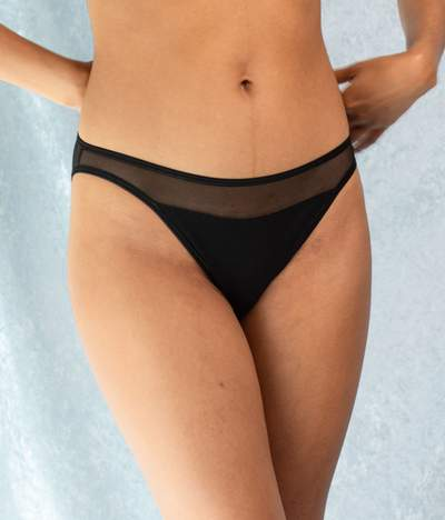 Recycled Tulle Selune Panties in Black from Olly Lingerie at Sancho's in Exeter, UK