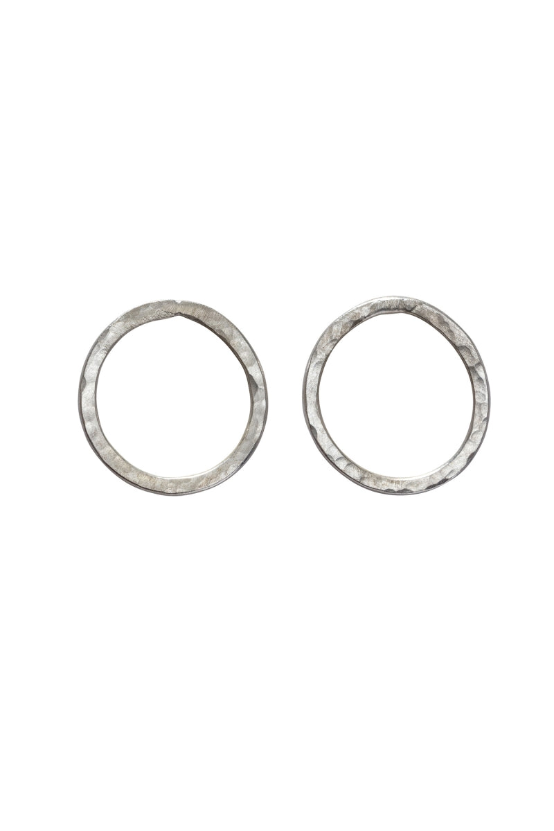 Simple Circle Earrings in Silver-Earrings-Sancho's Dress