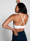 Girlfriend Topanga Sports Bra in Ivory