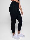 Girlfriend Compressive High Rise Long Leggings in Black