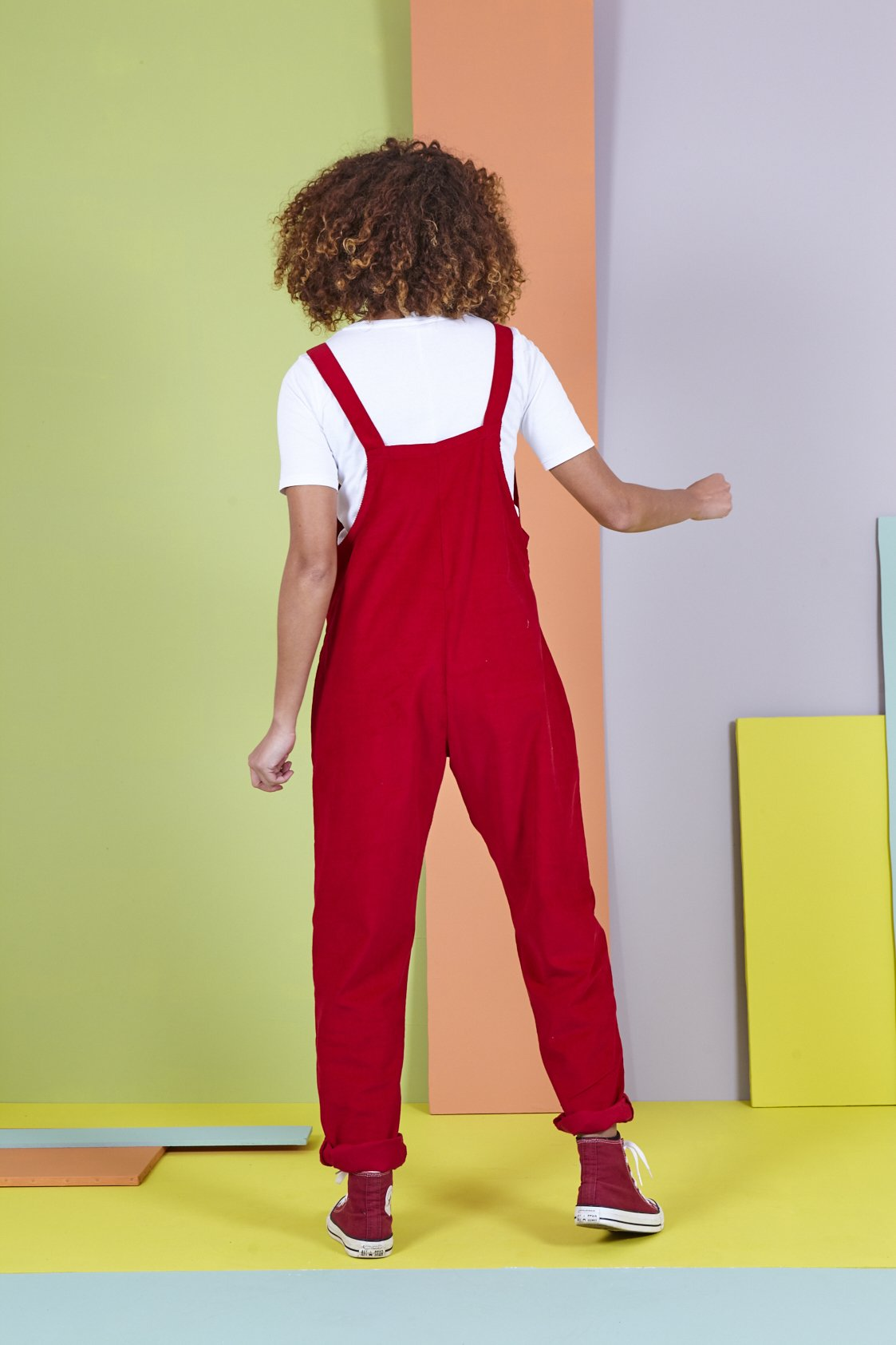 Organic Originals in Salsa Red-Dungarees-Sancho's Dress