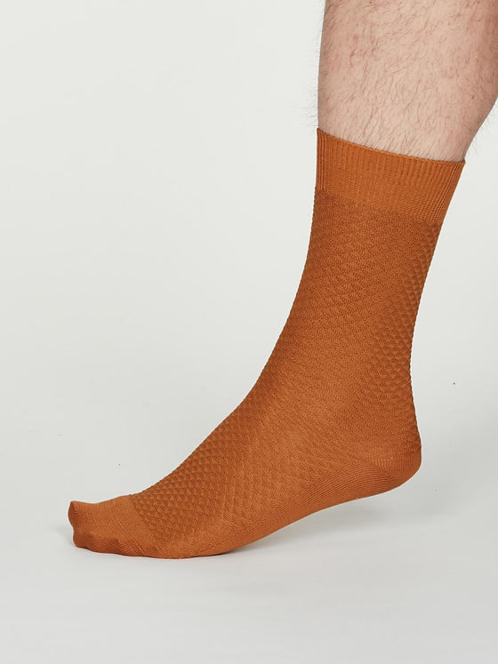 Bamboo Geoffrey Suit Socks in Amber Yellow from Thought