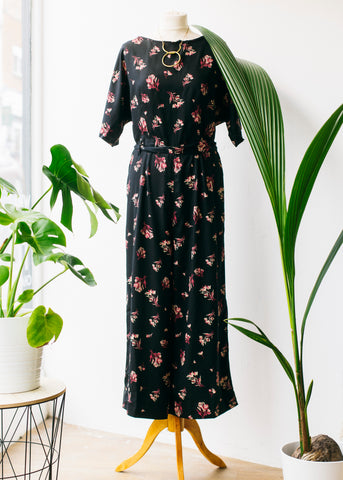 Lexia Bouquet Jumpsuit in Black-Cardigan-Sancho's Dress