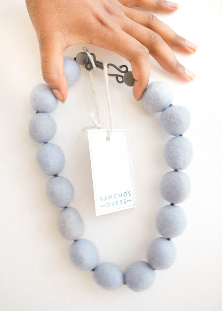 Merino Bead Necklace-Necklace-Sancho's Dress