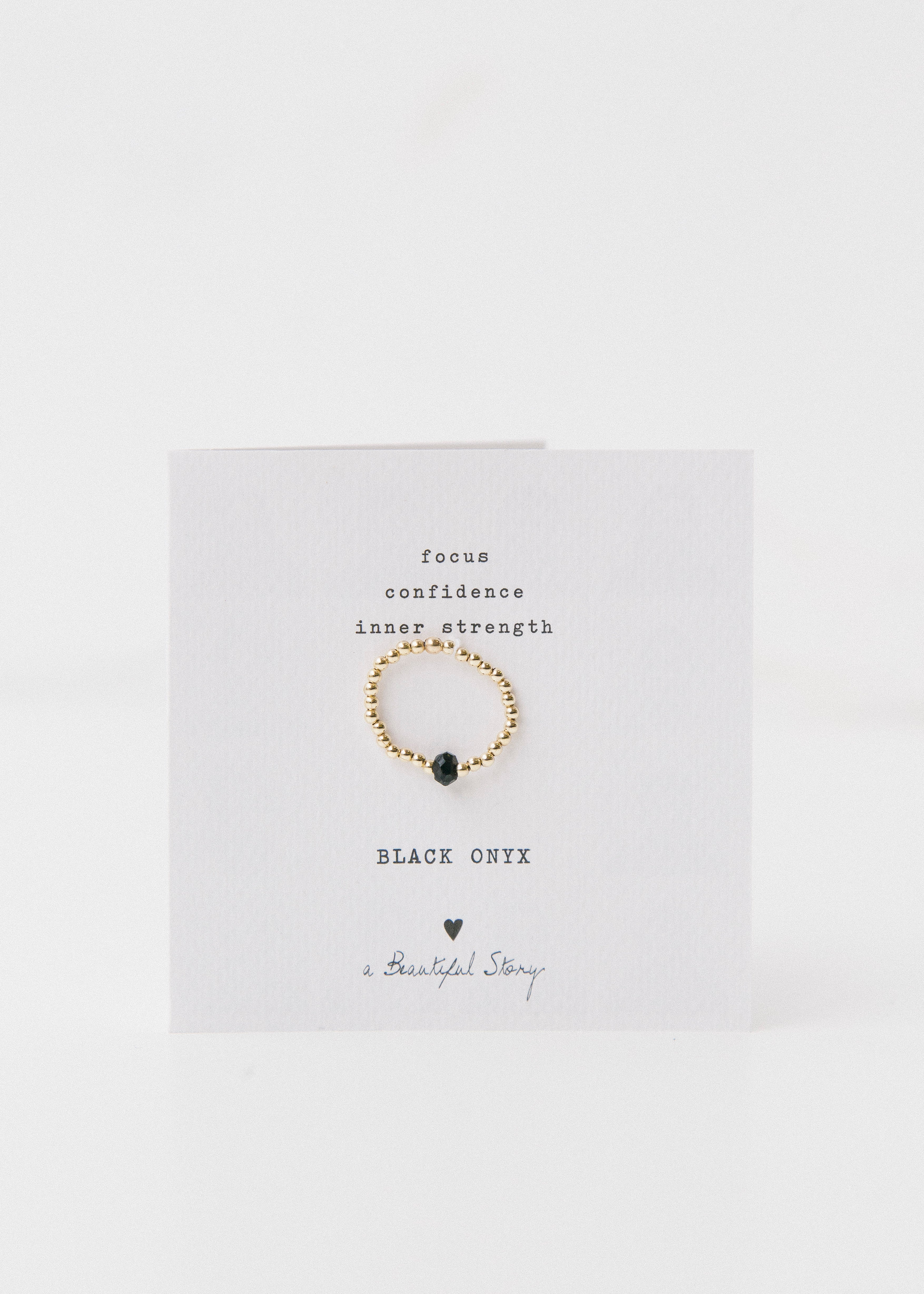 Sparkle Black Onyx Gold Ring-Jewellery-Sancho's Dress