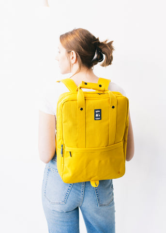 Daily Backpack in Mustard-Bag-Sancho's Dress