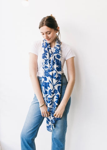 Naturegram Bamboo Scarf in Ocean Blue-Scarf-Sancho's Dress