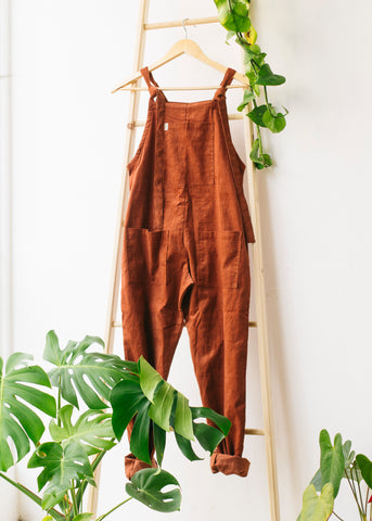 Organic Originals in Clay-Dungarees-Sancho's Dress