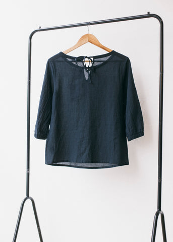 Eileen Blouse in Graphite-Top-Sancho's Dress