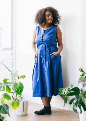 Margot Casual Dress in Jeans Blue-Dress-Sancho's Dress