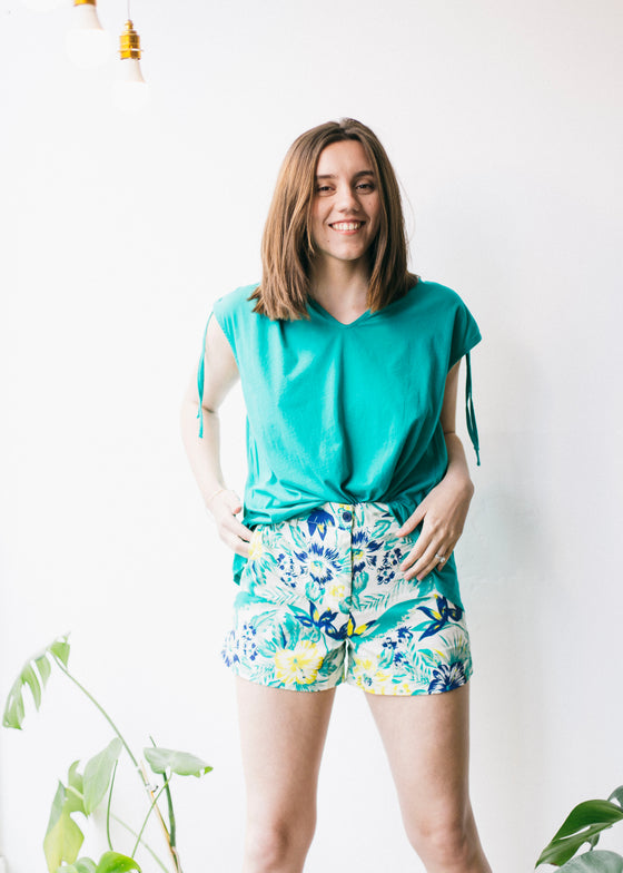 Rhea Tropical Shorts-Shorts-Sancho's Dress