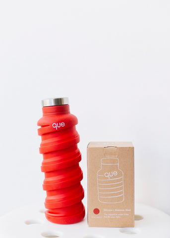 que Bottle in Bonfire Red-Plastic Free-Sancho's Dress