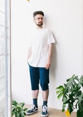 Organic Chino Shorts in Navy-Shorts-Sancho's Dress