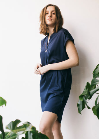 Niaa in Dark Navy-Dress-Sancho's Dress