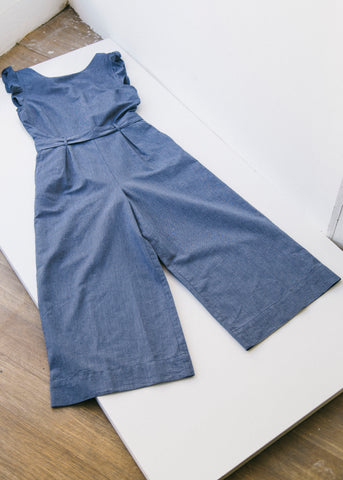 Saanya Chambray in Blue-Jumpsuit-Sancho's Dress