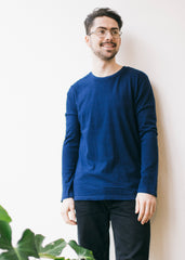 Shuffler in Dark Washed Indigo-LS T-Shirt-Sancho's Dress