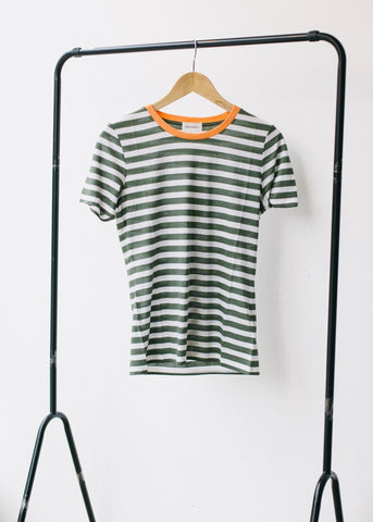 Lida Bold Stripes in Fresh Olive-T-shirt-Sancho's Dress