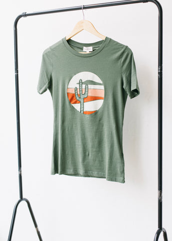 Lidaa Cactus in Fresh Olive-T-shirt-Sancho's Dress