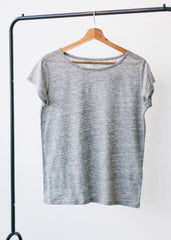 She Glows Linen Mid Heather Grey-T-shirt-Sancho's Dress