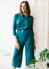 Sancho's Culottes in Teal-Trousers-Sancho's Dress