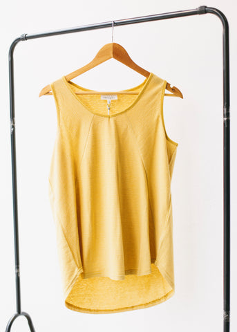 Melissa Vest Top in Mimosa Yellow-Top-Sancho's Dress