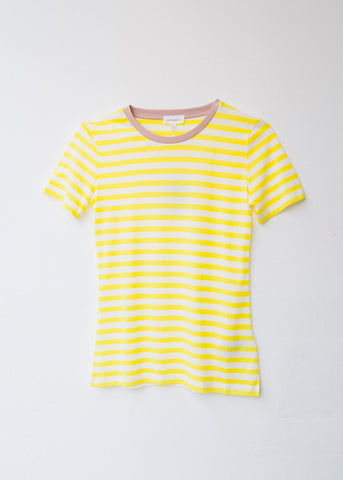Lidaa Bold Stripes in White-T-shirt-Sancho's Dress