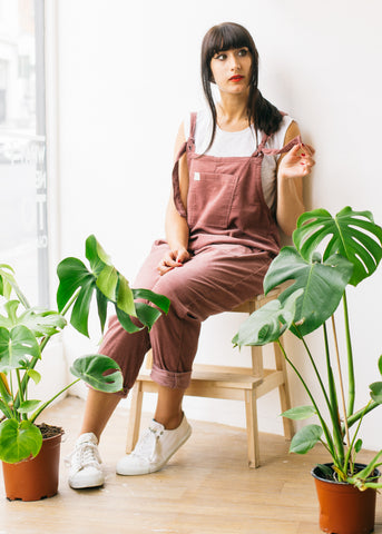 Organic Originals in Ash Pink - Size L-Dungarees-Sancho's Dress