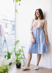 Gemma Stripe Skirt-Skirt-Sancho's Dress