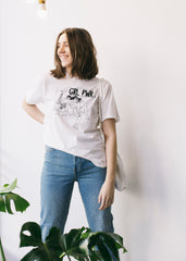 Girl Power Tee in White-T-Shirt-Sancho's Dress