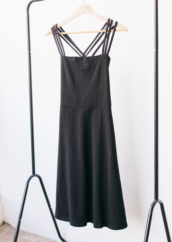 Riley Strappy Dress in Black-Dress-Sancho's Dress