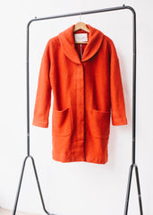 Gwendolyn Oversized Cocoon Coat in Fox Red-Coat-Sancho's Dress