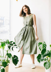 Margot Casual Dress in Forest Green-Dress-Sancho's Dress