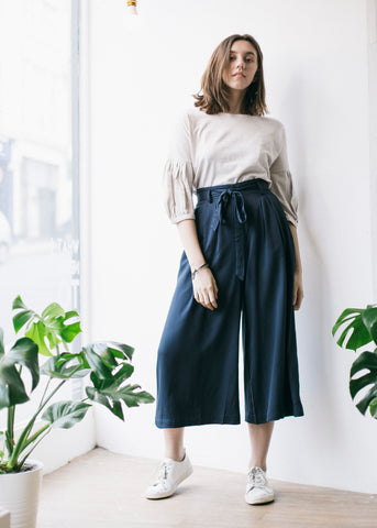 Eshi Culottes in Graphite-Trousers-Sancho's Dress