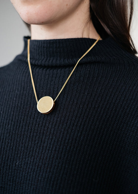 Elegant Ethical Eclipse Circle Pendant Necklace from Wolf & Moon