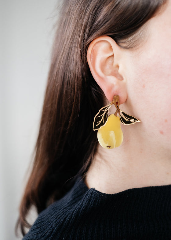 Statement Ethical Pear Earrings from Wolf & Moon