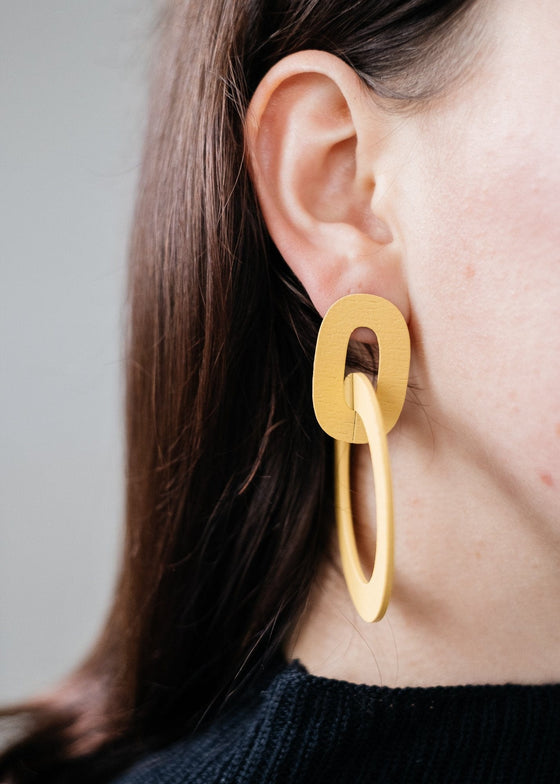 Chic Ethical Orla II Earrings in Straw from Wolf & Moon