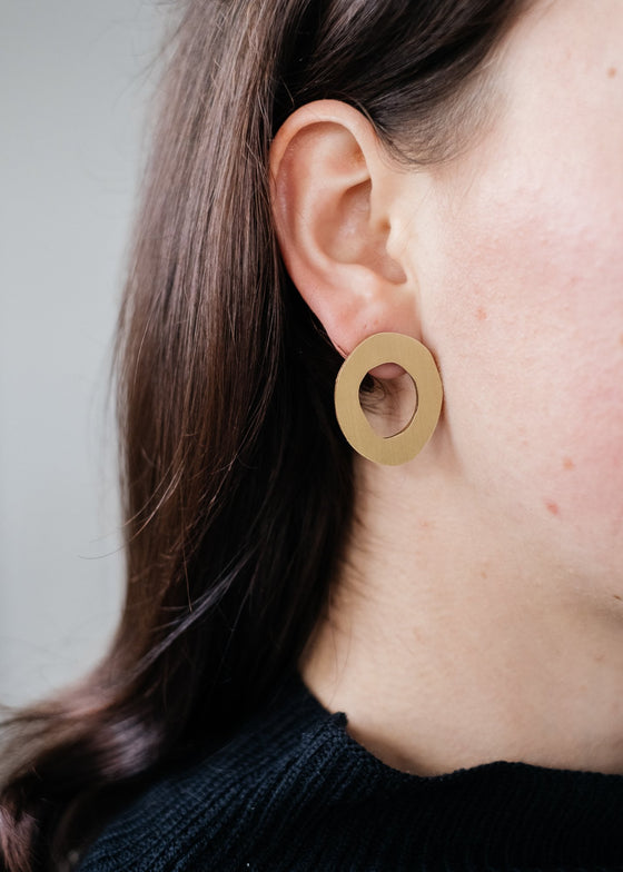 Chic Simple Ethical Hepworth I Studs from Wolf & Moon