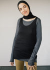 100% Organic Cotton Beaa Vest Top in Black from Armedangels