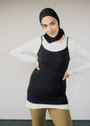100% Organic Cotton Daani Vest Top in Black from Armedangels