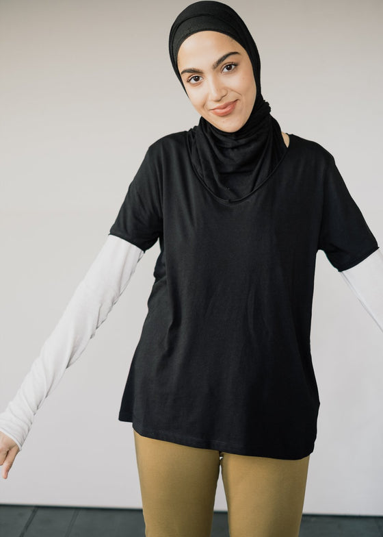 100% Organic Cotton Base Layer Haadia T-shirt in Black from Armedangels