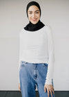 Organic Cotton Long Sleeve Evvaa Top in Off White from Armedangels