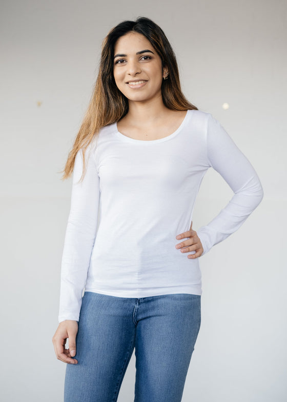 She Sings Base Layer Top in White from Stanley & Stella