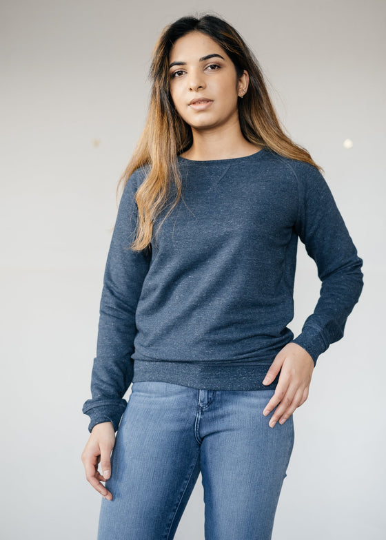Unisex Natural Organic Cotton Sweatshirt in Dark Heather Denim from Stanley & Stella