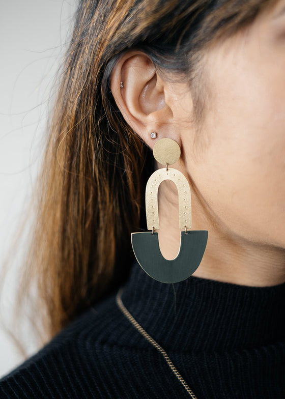 Ethically Hand Made Arch Triple Studs Earrings from Just Trade